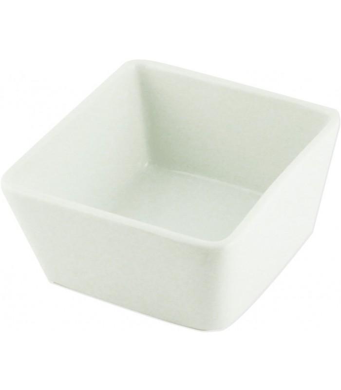 Salsera Castello 8.5Cm Cuad. 4Pza Porc Blanco