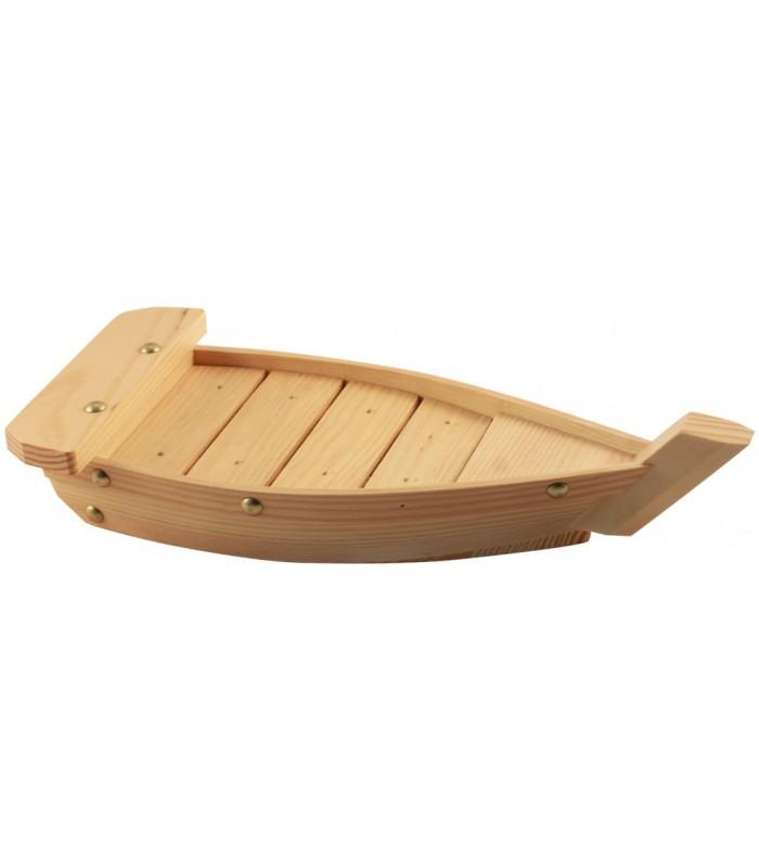 Bandeja Sushi Bote Madera Natural 33X15X4Cm
